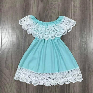 Teal and Lace Dress