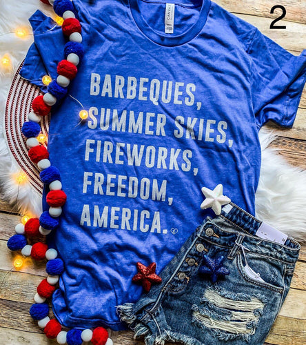 Barbeques and Freedom Tee