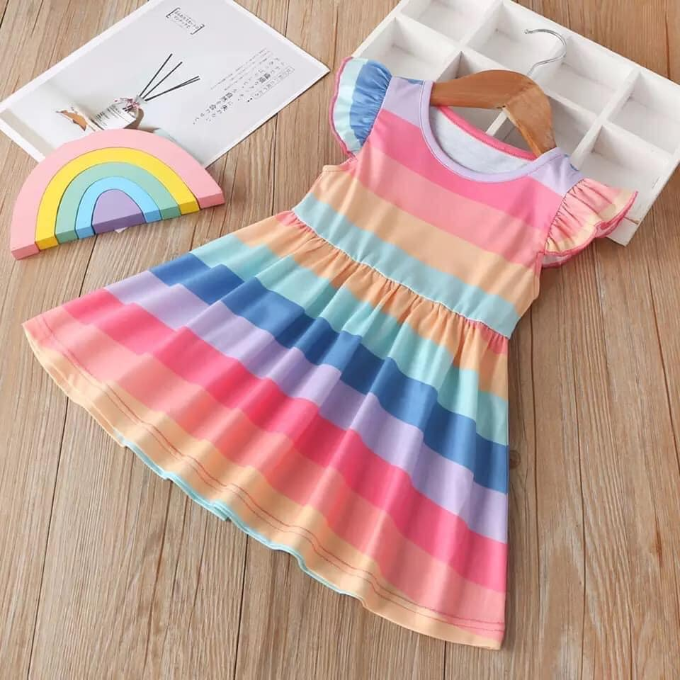 Rainbow Flutter Dress