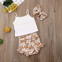 Load image into Gallery viewer, Gold, Floral, and Eyelet 3 Piece Set
