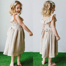 Load image into Gallery viewer, Tan Linen Collared Dress