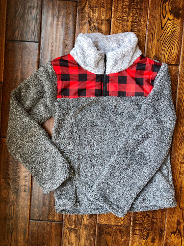 009) Youth Buffalo Plaid Sherpa