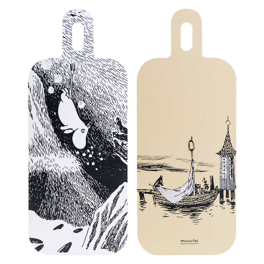 Moomin Chop & Serve Board 13X33cm Water