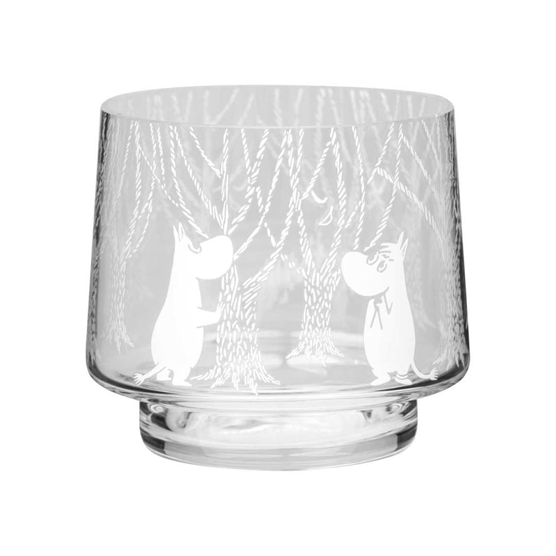 moomin tea light holder glass muurla