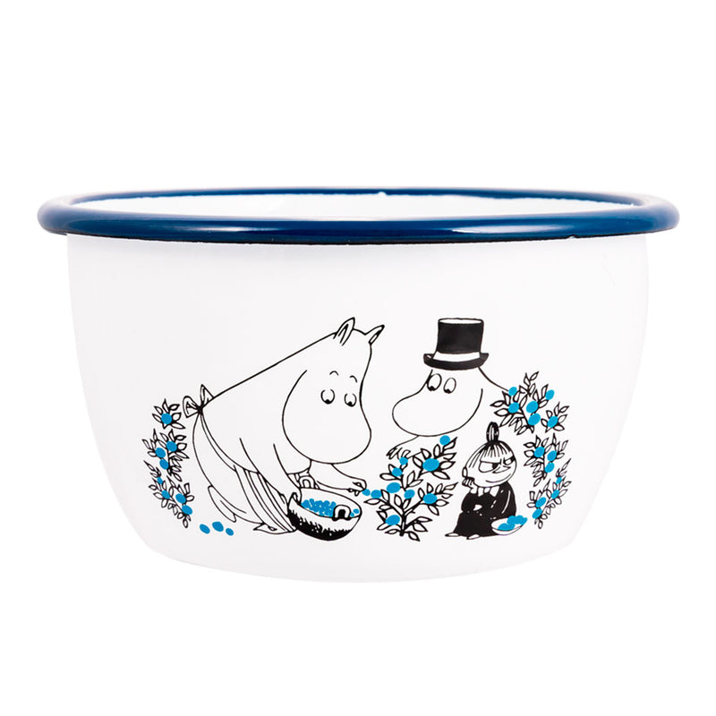 Blueberries Moomin Enamel Bowl 6dl