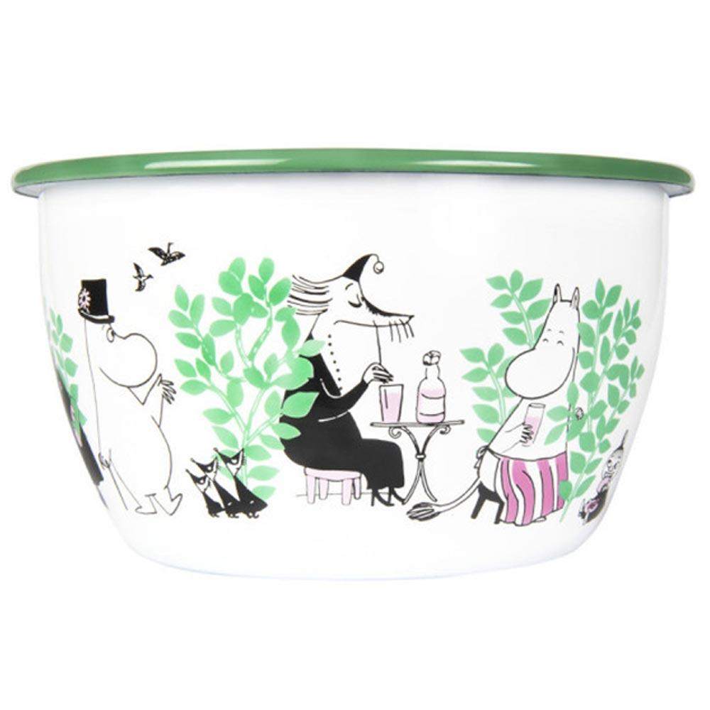 Day in the Garden Moomin Enamel Bowl 2L by Muurla