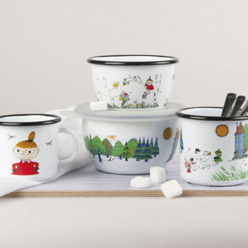 Family Moomin Enamel Bowl 300ML by Muurla