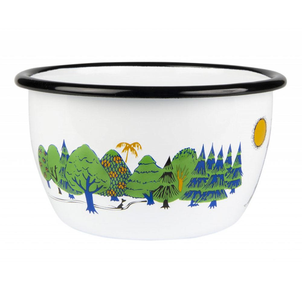 Family Moomin Enamel Bowl 600ML by Muurla