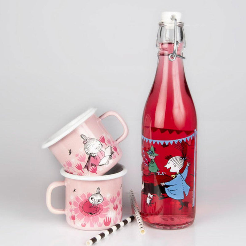 Girls On Pink Moomin Enamel Mug 250ML by Muurla