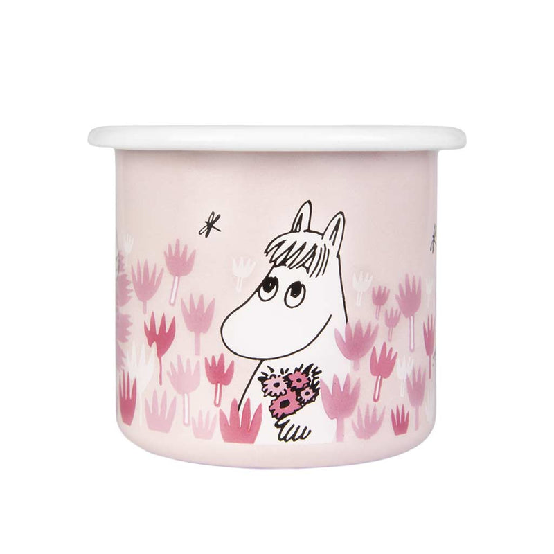 Girls On Pink Moomin Enamel Mug 2,5dl