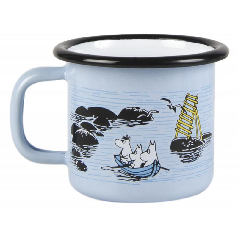Mellow Wind Moomin Enamel Mug 150ML by Muurla