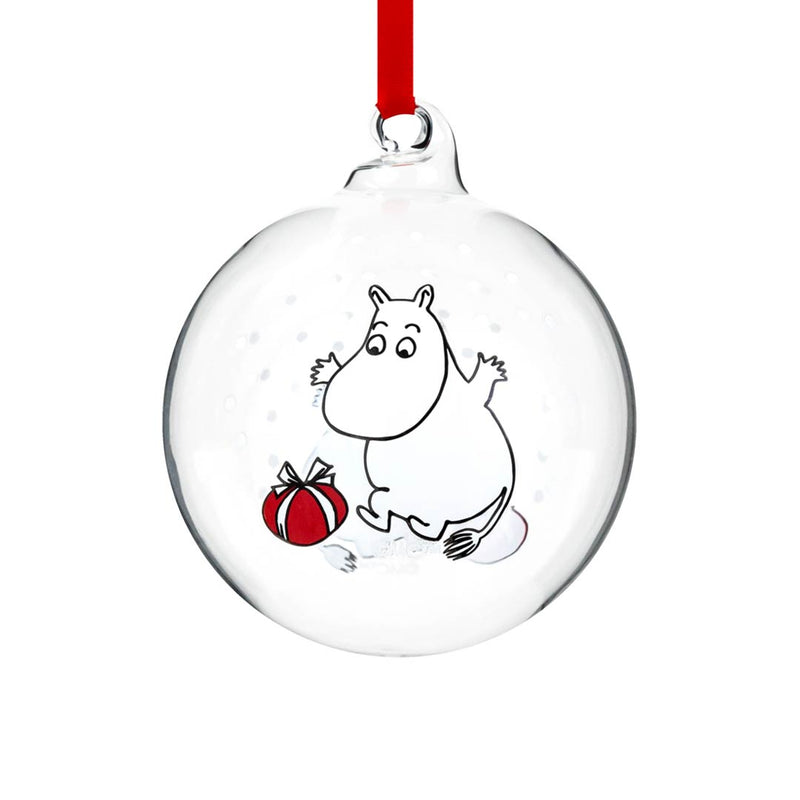 moomin christmas ball glass muurla