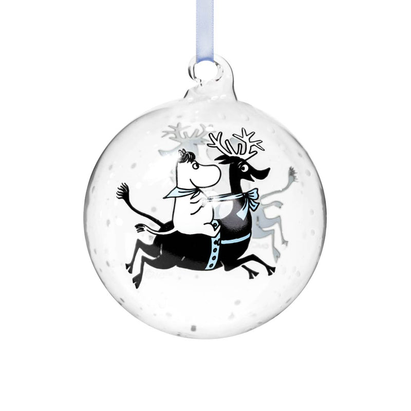 Moomin Christmas Bauble Reindeer Ride