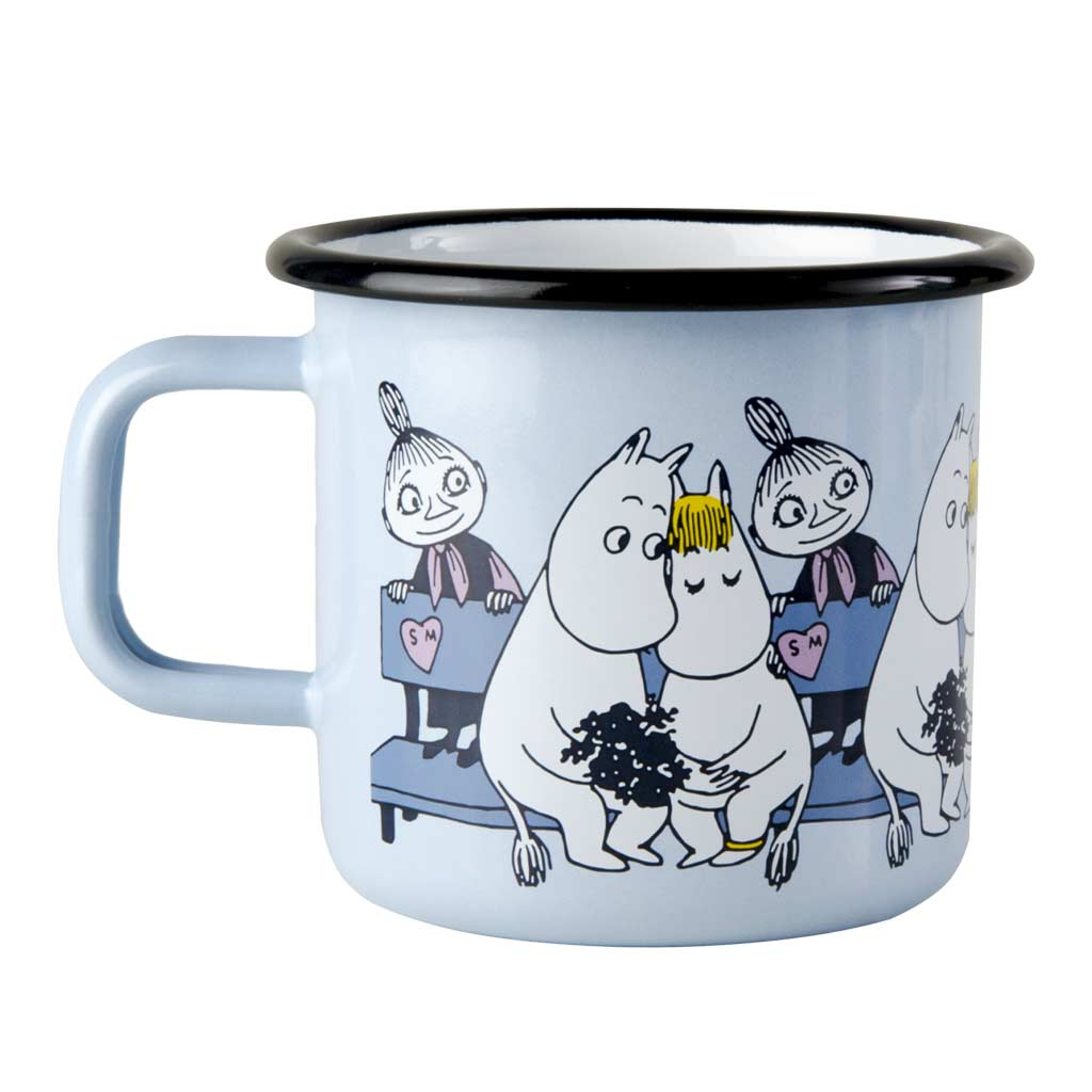 Moomin Friends Blue Moomin Enamel Mug 3,7dl