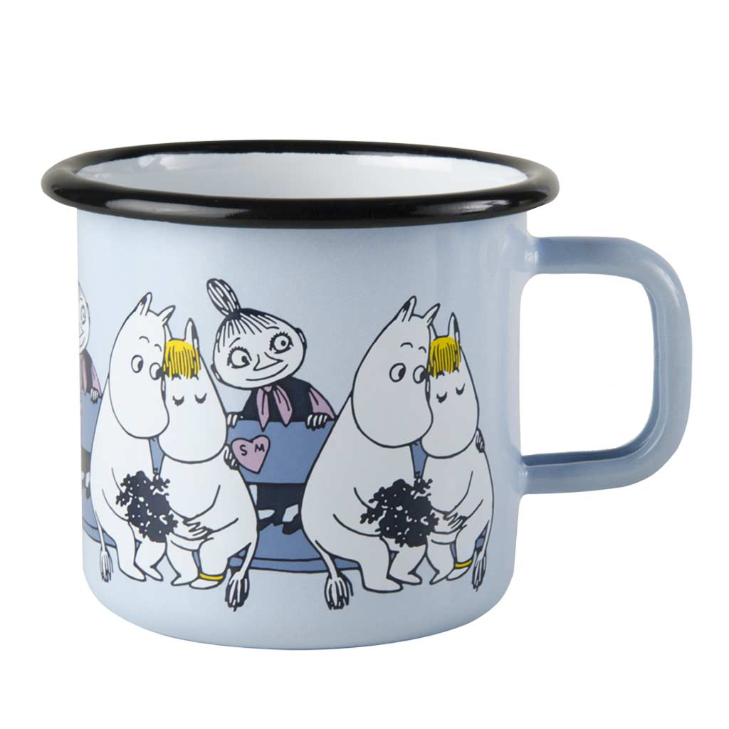 Friends Blue Enamel Moomin Mug 3,7dl