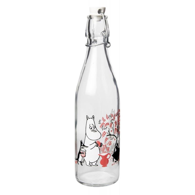 Moomin Glass Bottle Berries 0.5L by Muurla