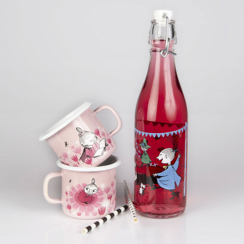 Moomin Glass Bottle Summer Party 0.5L by Muurla