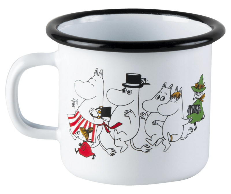 Moomin Valley Moomin Enamel Mug 250ML by Muurla