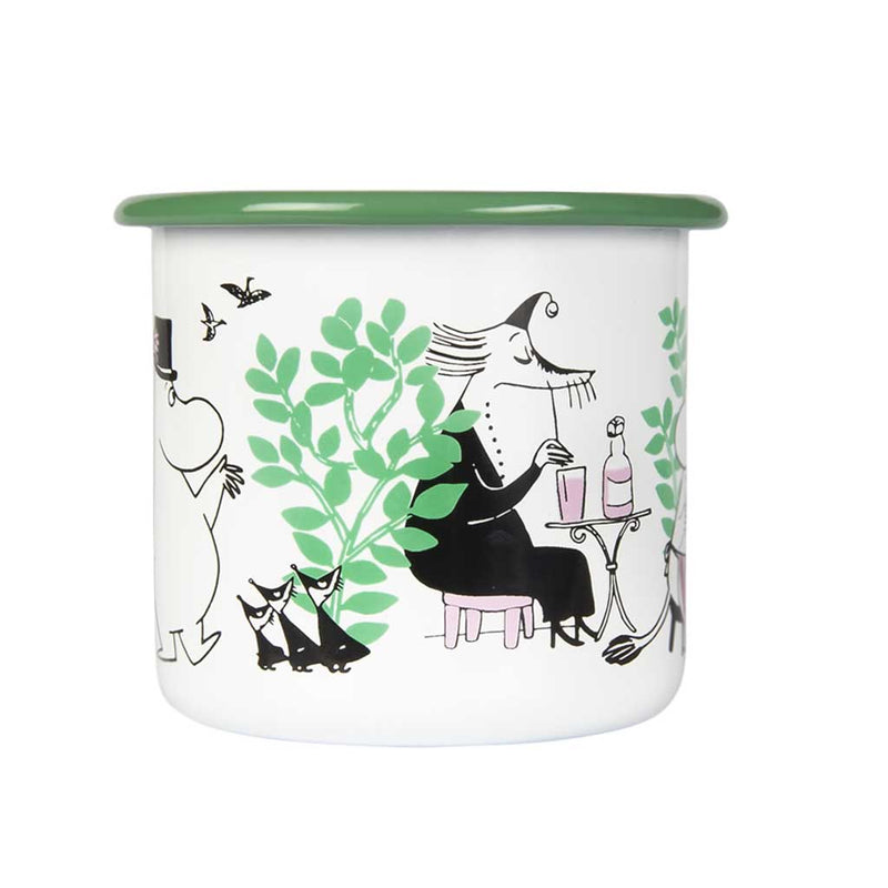 Day in the Garden Moomin Enamel Mug 370ML by Muurla