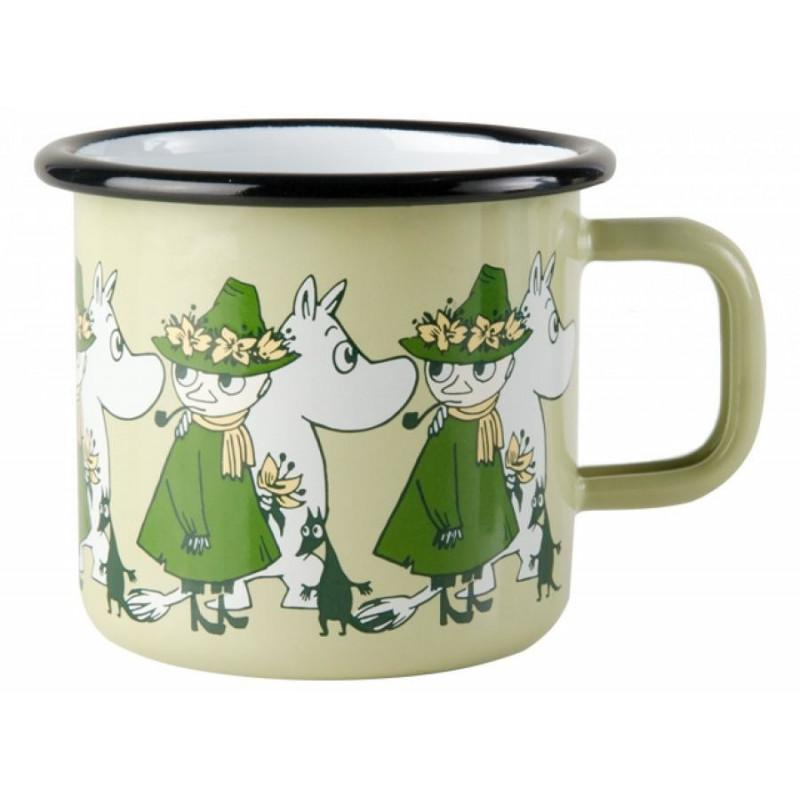 Moomintroll and Snufkin Friends Moomin Enamel Mug 3,7DL by Muurla