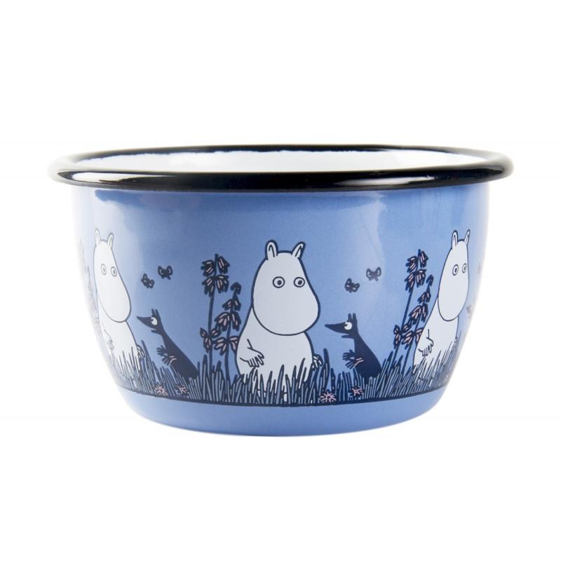 Moomintroll Friends Moomin Enamel Bowl 3DL by Muurla