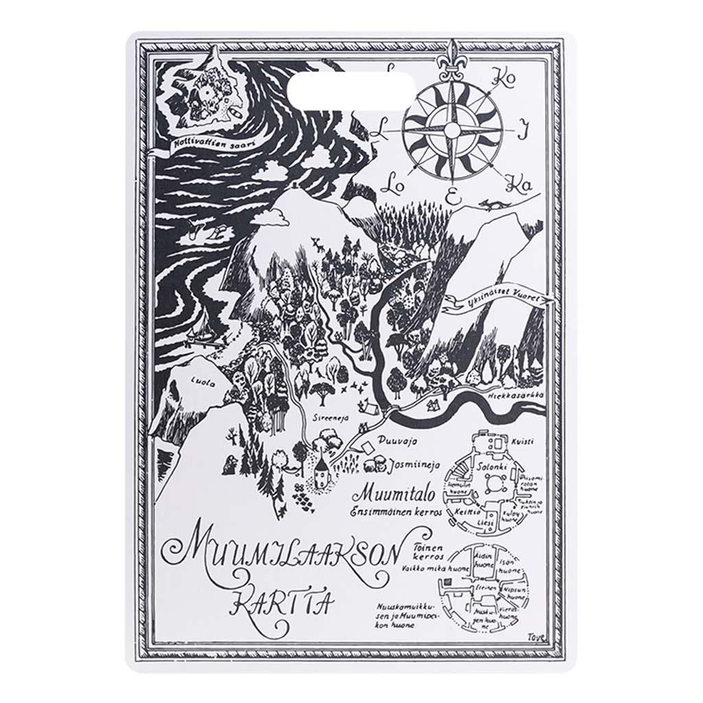 Moomin Chop & Serve Board 30X43 Moominvalley Map