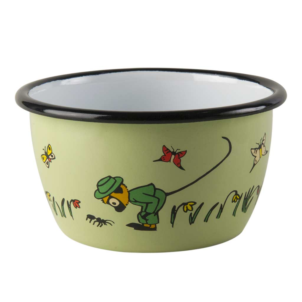 Mr Nilsson Pippi's Monkey Enamel Bowl 3dl