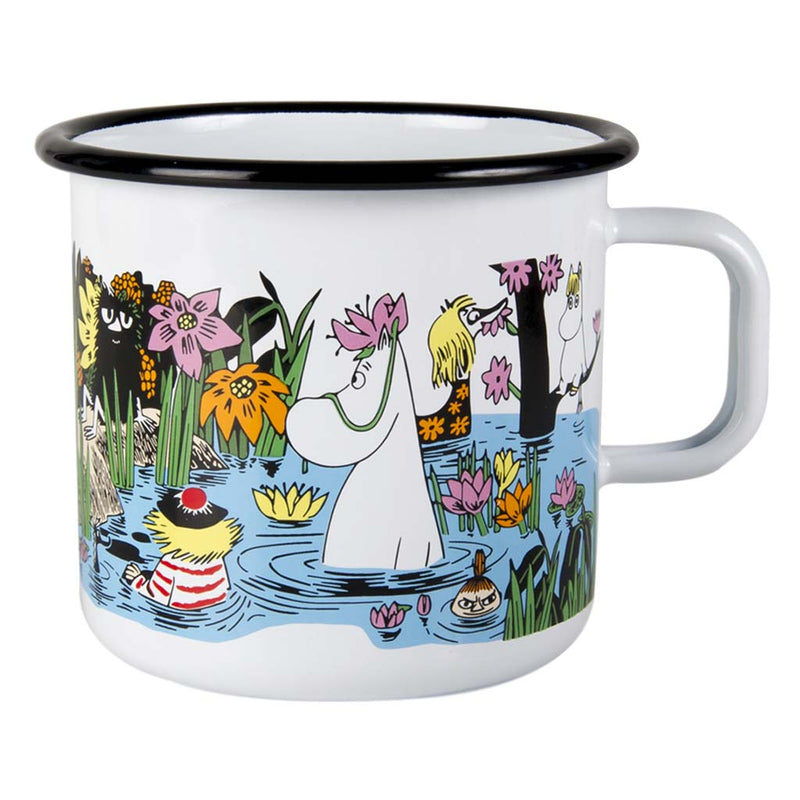 Trip to the Pond Moomin Enamel Mug 8dl
