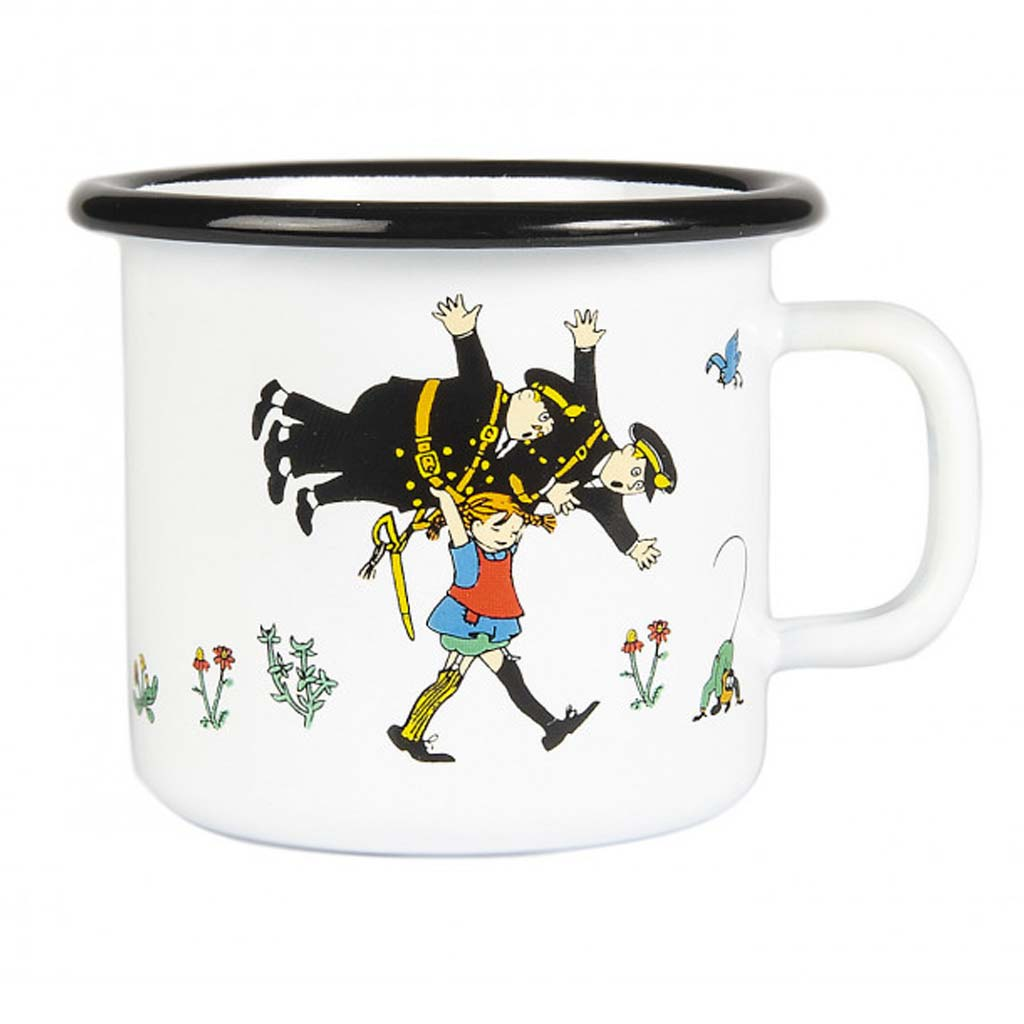 Pippi and the Policemen Enamel Mug 2,5dl