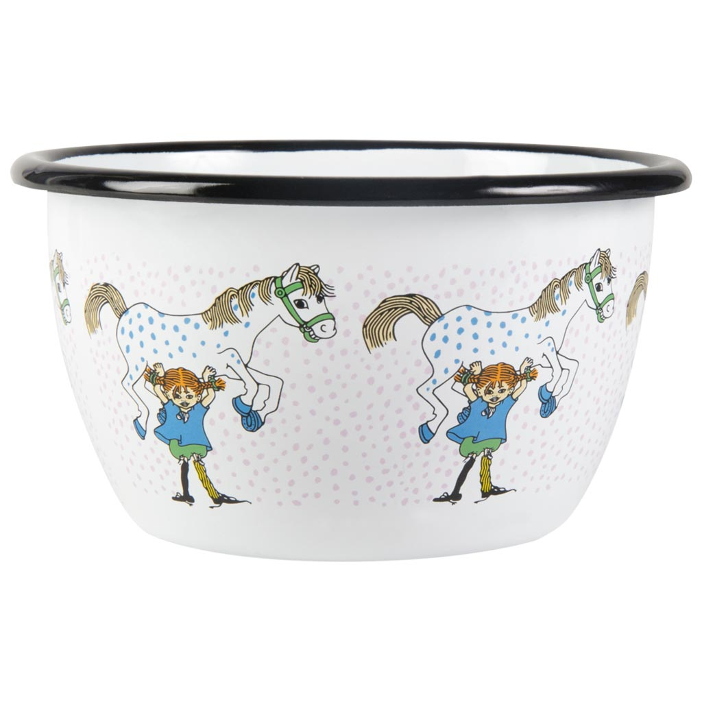 Pippi and the Horse Enamel Bowl 6dl