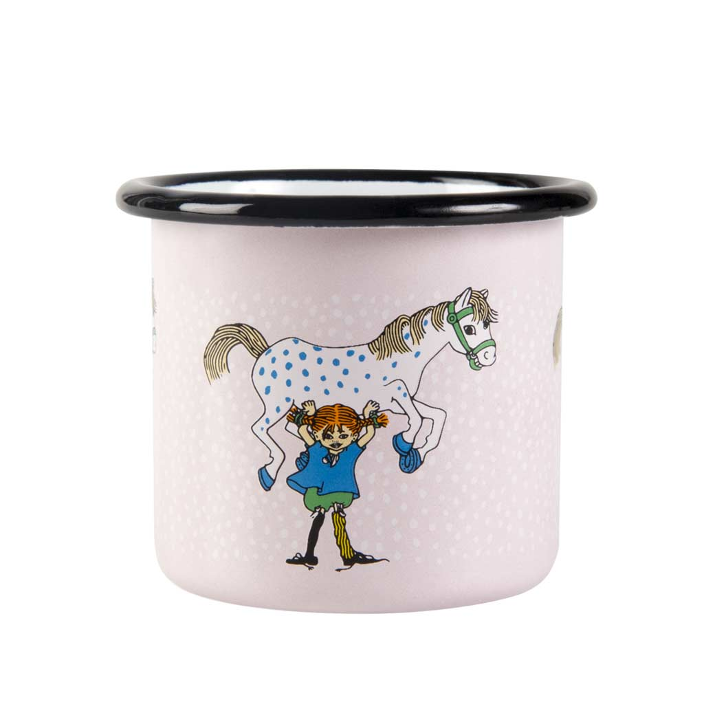 Pippi and the Horse Enamel Mug 1,5dl