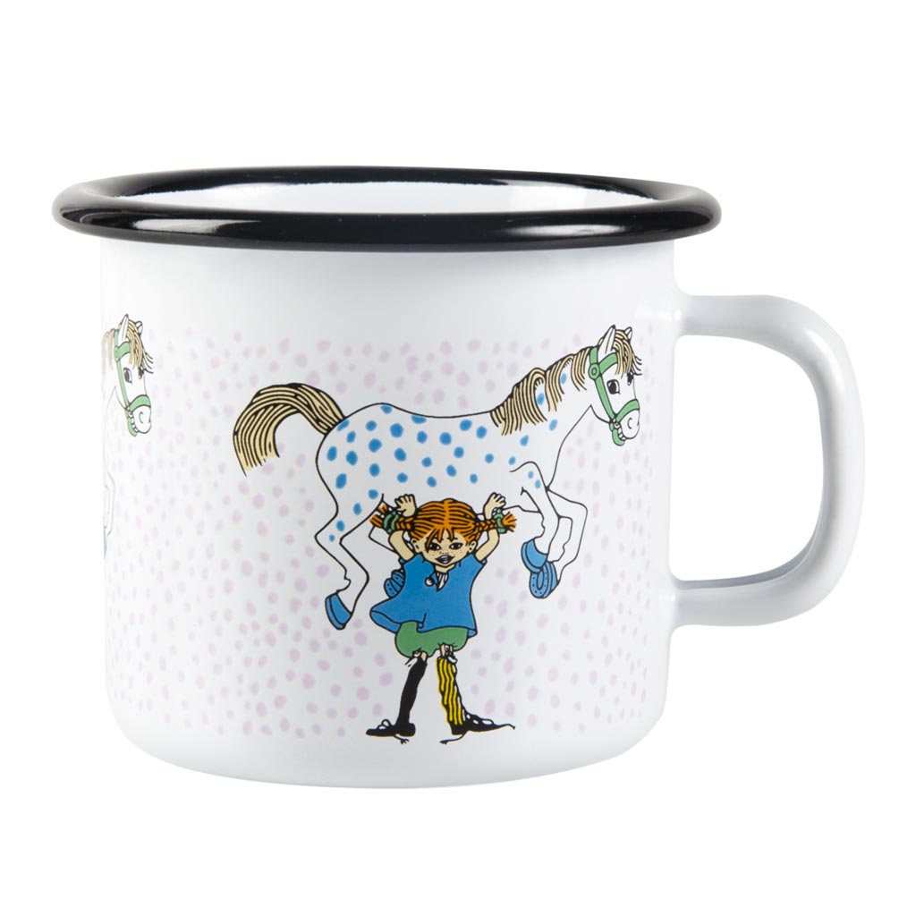 Pippi and the Horse Enamel Mug 2,5dl