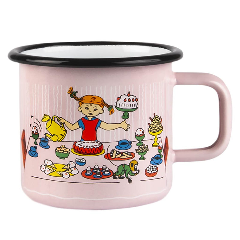 Pippi's Birthday Enamel Mug 3,7dl
