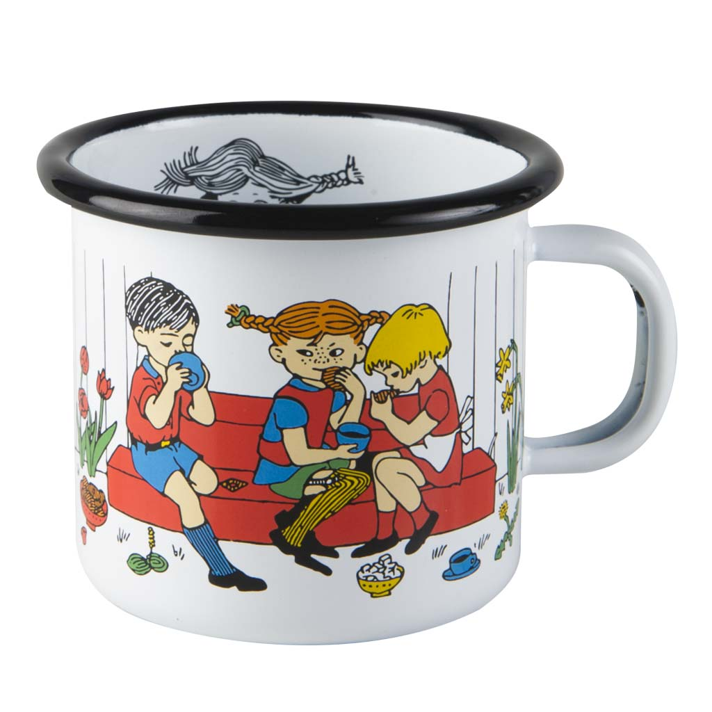 Pippi's Coffee Time Enamel Mug 2,5dl