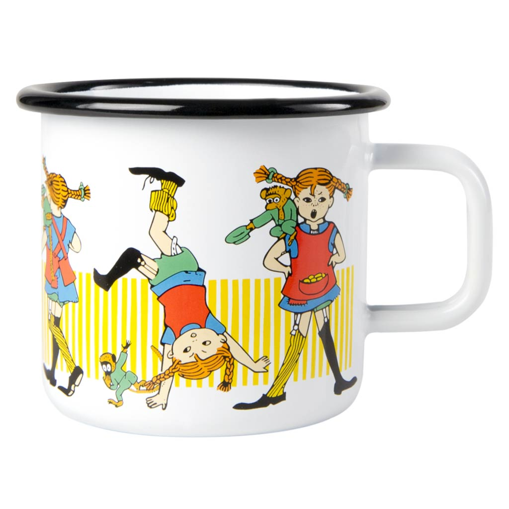 Pippi Longstocking Enamel Mug 3,7dl