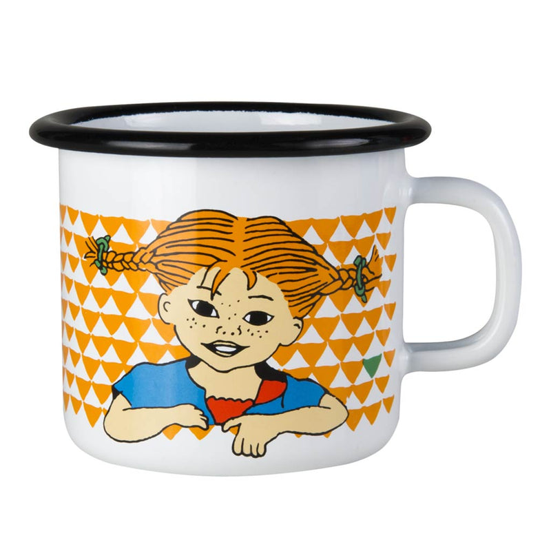 Pippi Longstocking Orange Enamel Mug 2,5dl