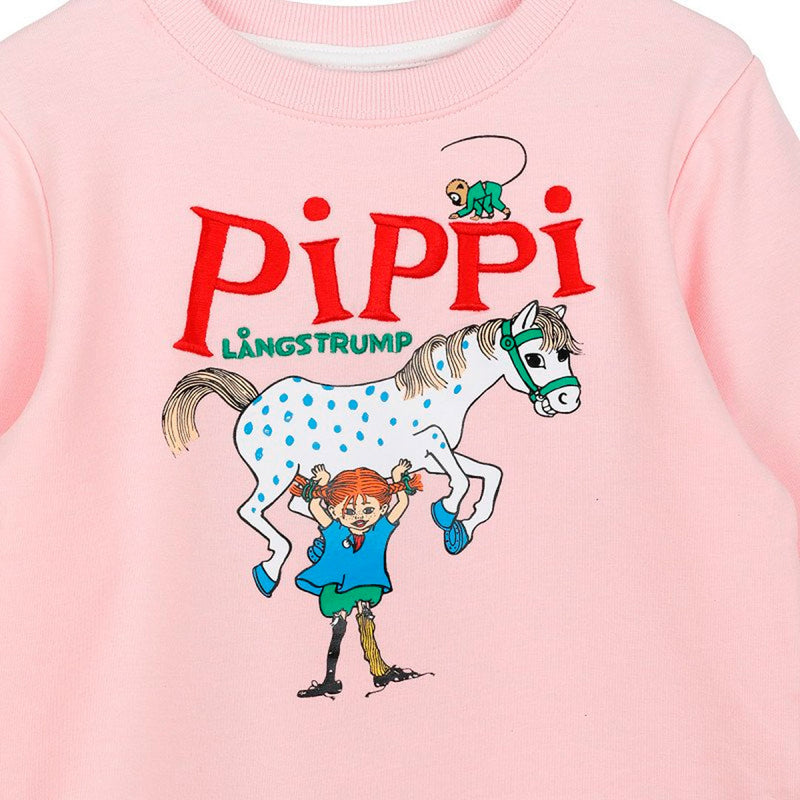 Pippi and the Horse Pink Sweatshirt
