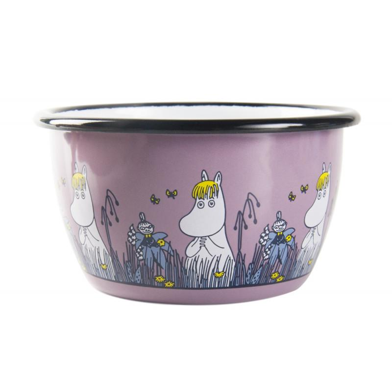 Snorkmaiden Friends Moomin Enamel Bowl 3DL by Muurla