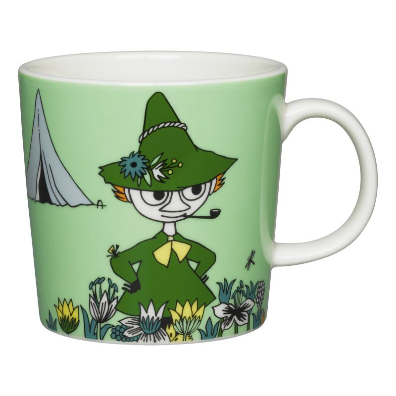 Snufkin Green Moomin Mug by Arabia