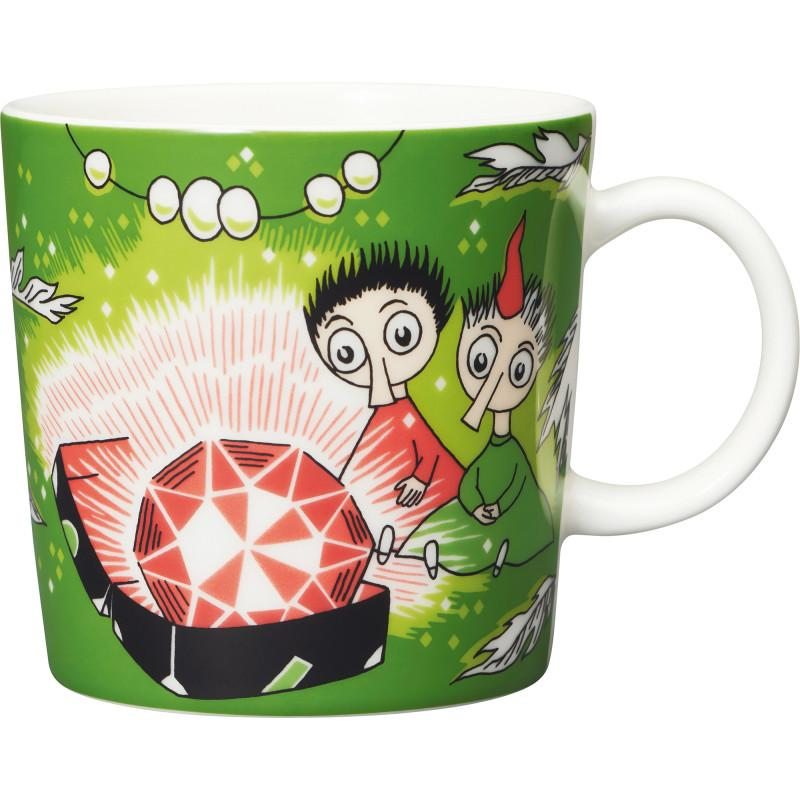 Thingumy and Bob with King's Ruby Moomin Mug by Arabia