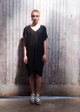 Load image into Gallery viewer, Minimalist style dress. Maxi length dress. Vneck Dress. Unisex.