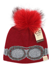 Load image into Gallery viewer, Kids Goggle Rhinestone Beanie
