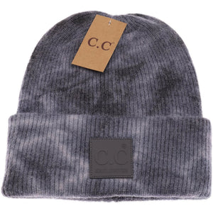 Tie Dye Beanie with Rubber Patch