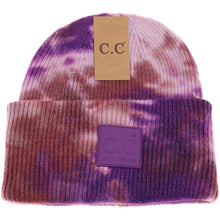 Load image into Gallery viewer, Tie Dye Beanie with Rubber Patch