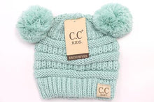 Load image into Gallery viewer, BABY Solid Double Pom CC Beanie
