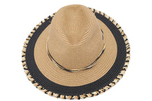 Load image into Gallery viewer, Multi-Color Fringed Panama Hat
