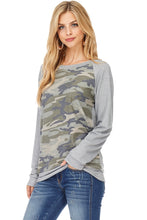 Load image into Gallery viewer, Camo Raglan sleeve