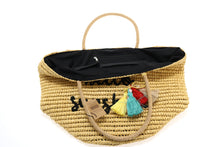Load image into Gallery viewer, Straw Embroidered Beach Bag