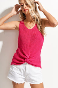 Knotted Summer Knit Tank