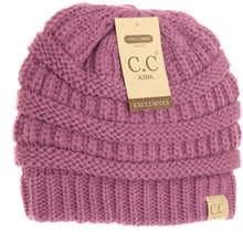 Load image into Gallery viewer, KIDS SOLID FUZZY LINED CC BEANIE